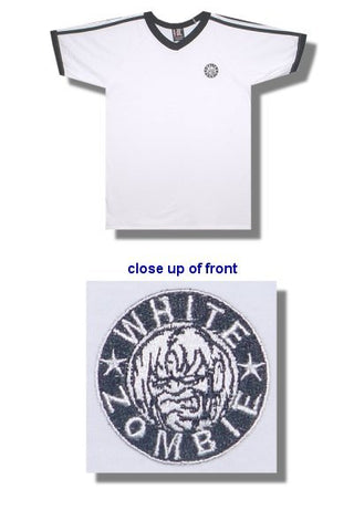 White Zombie - Embroidered V-Neck Soccer Jersey