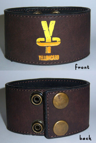 Yellowcard - Gradient Logo Leather Wristband