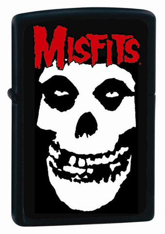 Misfits - Skull Black - Flip Top - Zippo Lighter