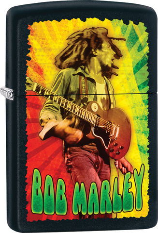 Bob Marley - Concert Black Matte - Flip Top - Zippo Lighter