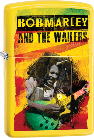 Bob Marley - The Wailers - Yellow Matte - Flip Top - Zippo Lighter