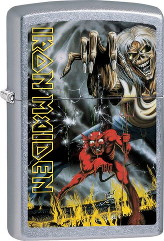 Iron Maiden - Chrome - Beast - Flip Top - Zippo Lighter