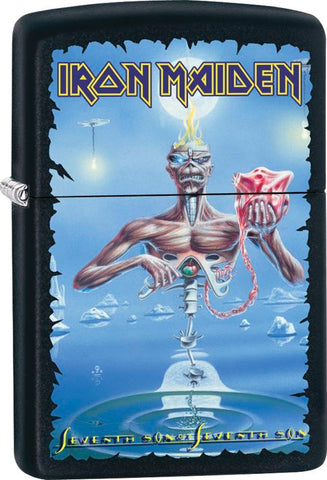 Iron Maiden - Black Matte - Son - Flip Top - Zippo Lighter