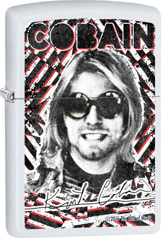 Nirvana - Kurt Cobain - White Matte - Flip Top - Zippo Lighter