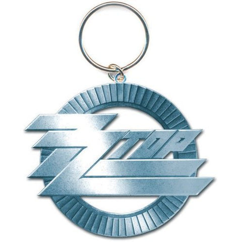 ZZ Top - Circle Logo Metal Keychain (UK Import)