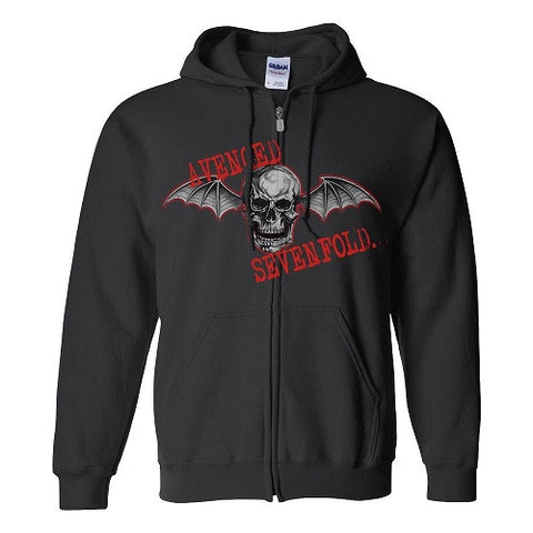Avenged Sevenfold - Red Death Bat Zip Hoodie