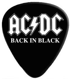 AC/DC - 2 Pack Of Back In Black Guitar Picks