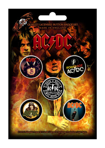 AC/DC - Button Badge Set - Highway To Hell - UK Import