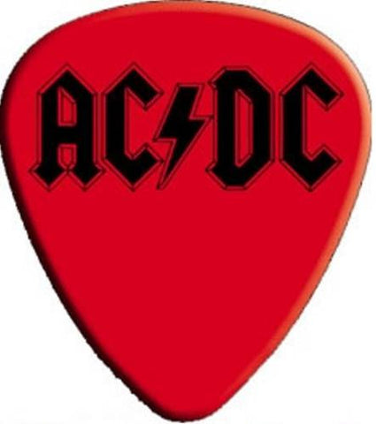 AC/DC - Pack Of 2 Guitar Picks - Red Black