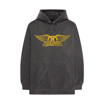 Aerosmith - Grey Wing Crest Logo - Pullover Hoodie
