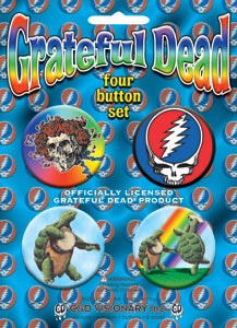 Grateful Dead - 1 - 4 Pinback Button Set