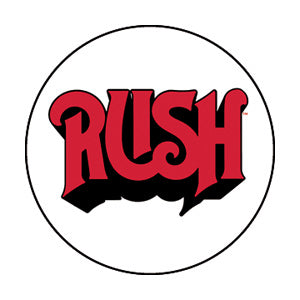 Rush - Red Logo Pinback Button (Pack Of 2)