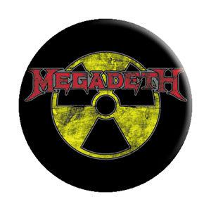 Megadeth - Radioactive Pinback Button (Pack Of 2)