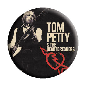 Tom Petty - Guitar Photo Pinback Button (Pack Of 2)