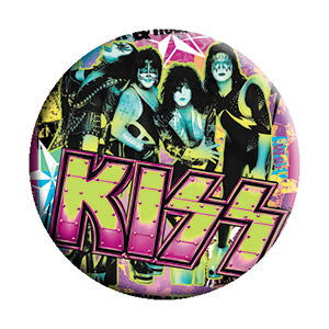 KISS - Party Logo Button (Pack Of 2)