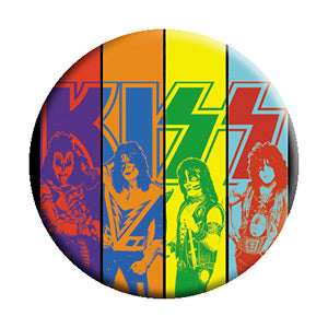 KISS - Sliced Band Pinback Button (Pack Of 2)