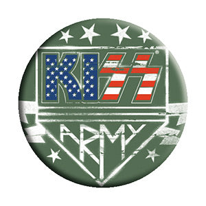KISS - Army USA Logo Pinback Button (Pack Of 2)