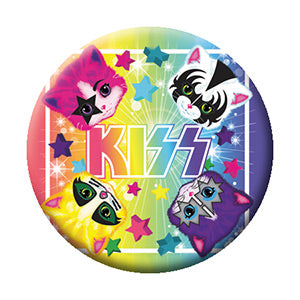KISS - Kittens Logo Pinback Button (Pack Of 2)