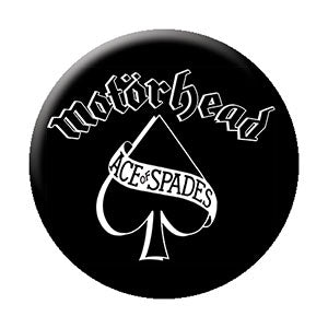 Motorhead - Ace Of Spades Logo Pinback Button (Pack Of 2)
