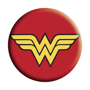 Wonder Woman - Red Yellow Pinback Button (Pack Of 2)
