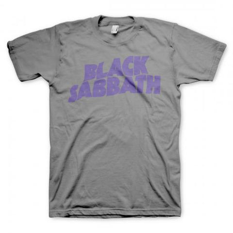 Black Sabbath - Purple Logo Grey T-Shirt
