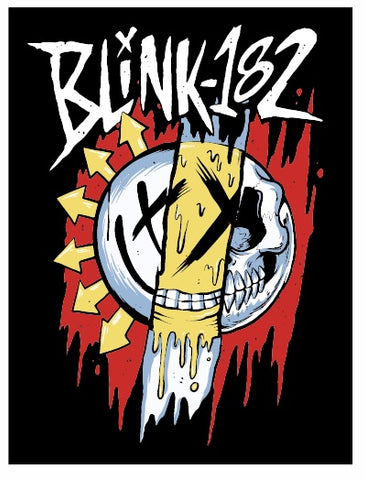Blink 182 - Sticker - blink-182 Mixed Smile Logo - 4 x 3 Inches