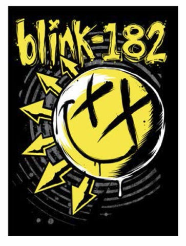 Blink 182 - Sticker - blink-182 Yellow Smile Logo - 4 x 3 Inches