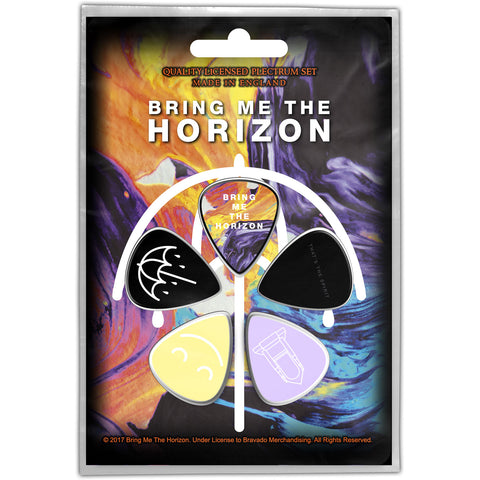 Bring Me The Horizon-Guitar Pick Set- 5 Picks - UK Import - Licensed New In Pack