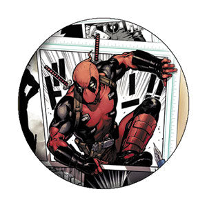 Deadpool - Comic Page Pinback Button (Pack Of 2)