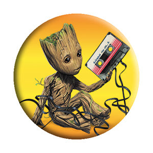 Guardians Of The Galaxy - Groot Cassette - Button - Pack Of 2