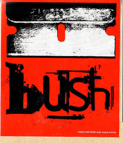 Bush - Sticker - Red Black Logo - Gavin Rossdale - Licensed New