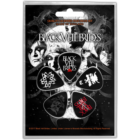 Black Veil Brides - Guitar Pick Set - 5 Picks - UK Import - Licensed New In Pack