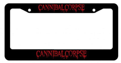 Cannibal Corpse - License Plate Frame - Black Red Logo - Licensed New