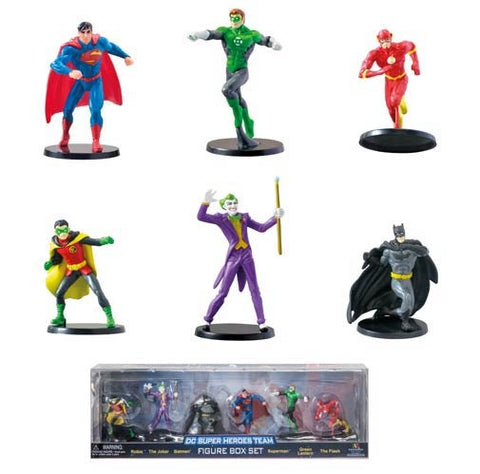 Figure Set - Superman-Batman-Flash-Joker-Robin-Statue-DC-Box Set-New