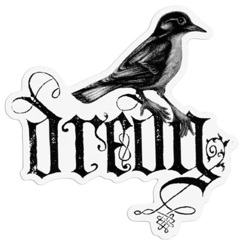 Dredg - Sticker - Die Cut Bird Logo - Square - 5 Inch