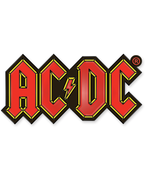 AC/DC - Red Yellow Logo Enamel Lapel Pin Badge