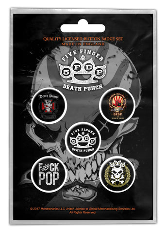 Five Finger Death Punch - Button Badge Set - UK Import
