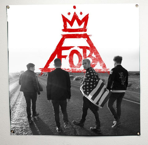 Fall Out Boy - Red Crown Photo Large Banner Flag