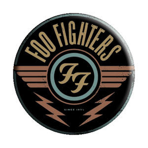 Foo Fighters - Pack Of 2 Red Logo Buttons