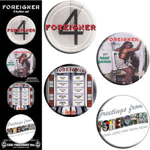 Foreigner - Button Set