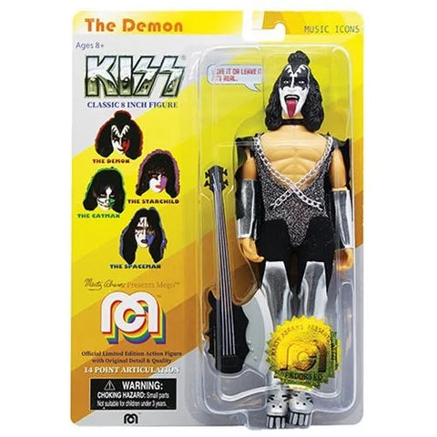 KISS-Gene Simmons-Action Figure-14 Point-W/Guitar-2018-19-Licensed-New In Pack