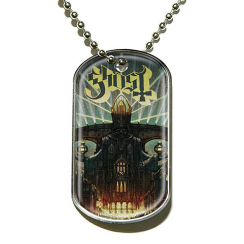 Ghost - Necklace - Pendant -Dog Tag-Logo-Collector's-UK Import