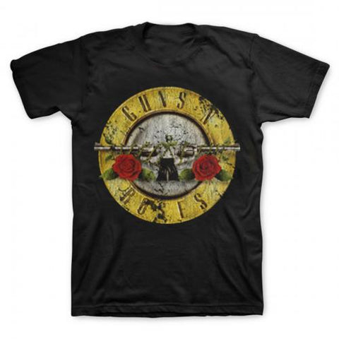 Guns N Roses - Distressed Bullet T-Shirt