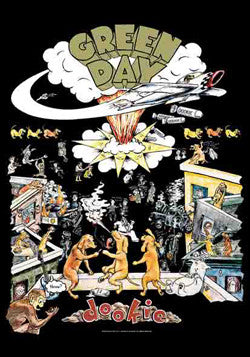 Green Day - Dookie Poster Flag