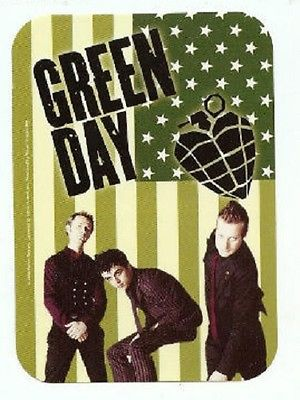 Green Day - Sticker - Flag Band Heartnade - 4x3 inches - Licensed New