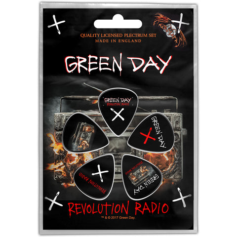 Green Day - Guitar Pick Set - 5 Picks-Rev Radio-UK Import - Licensed New In Pack