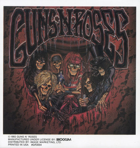 Guns N Roses - Sticker - Skeletons Comic Cartoon Group Band