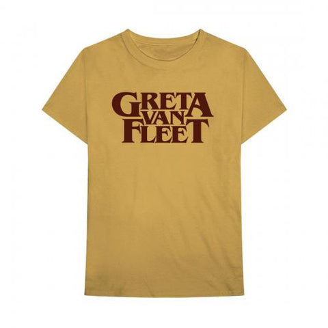 Greta Van Fleet - Gold Logo T-Shirt