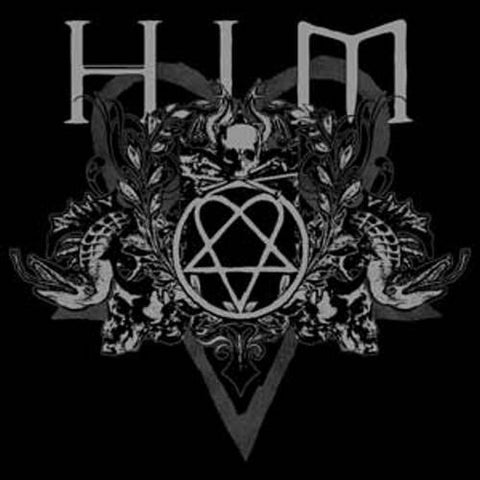 HIM - Heartagram Crest Snake Logo Sticker