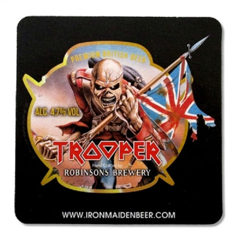Iron Maiden - Coaster - Drink - Beverage - Trooper